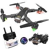 ScharkSpark Drohne Thunder mit Kamera Live Video, RC-Quadcopter, einfache für Anfänger zu steuern, Faltbare Arme, 2,4G 6-Achsen, Kopflos-Modus, Höhe halten,...