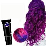 50ML Mehrfarbiges Haarpigment, Thermochrome Farbwechsel-Wunderfarbstoffe, Haarfärbemittel Haarfarbe Mode Haarfarbe Unisex DIY Haarfarbe Wachs (lila)