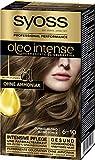 SYOSS Oleo Intense Permanente Öl-Coloration, Haarfarbe 6-10 Dunkelblond, mit pflegendem Öl & ohne Ammoniak, 3er Pack (3 x 115 ml)