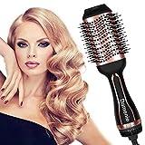 Damenie Haartrockner, 5 in 1 Warmluftbürste Multifunktionaler Föhnbürste Salon Fönbürste Hair Dryer und Volumizer Styler Heißluftbürste Haarglätte...