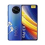 POCO X3 PRO Smartphone (16,94cm (6,67') FHD+ LCD DotDisplay 120Hz, 8GB+256GB Speicher, 48MP Quad-Rückkamera, 20MP Frontkamera, Dual-SIM, Android 11) Blau -...