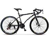 ZHTY 26-Zoll-Rennrad, 24-Gang-Bikes, Doppelscheibenbremse, Rahmen aus Kohlenstoffstahl, Rennradrennen, Herren und Damen für Erwachsene