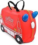 Trunki Trolley Kinderkoffer, Handgepäck für Kinder: Frank Feuerwehrauto (Rot)