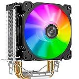 Jonsbo CR-1200 ARGB 92mm CPU Kühler RGB PC Fan für Intel und AMD CPUs Kühlung Effiziente Prozessoren, Hohes Kühlpotential und stylisches Design