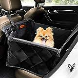 Looxmeer Hunde Autositz für Kleine Mittlere Hunde, Hundesitz Auto Autositzbezug mit Sicherheitsgurt und Verstärkter Wände für Rückbank, Wasserdicht &...