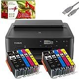 Canon PIXMA TS705 Tintenstrahldrucker schwarz + USB Kabel & 10 komp. realink Druckerpatronen (Drucken per USB oder WLAN) - Originalpatronen ausdrücklich Nicht...