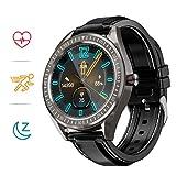COULAX SmartWatch, 1.3 Zoll Touch Farbdisplay Fitness Armbanduhr mit Pulsuhr, IP68 wasserdichte Sportuhr mit Schrittzähler Schlafmonitor SMS SNS Erinnerung,...