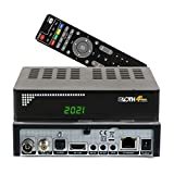 RED OPTICUM Opticum Sloth Combo 4K, DVB S/S2/T/T2-C Digital IP Receiver mit PVR Aufnahmefunktion und externem IR Sensor (HDTV, 4K, UHD; H.265, HEVC, HDMI,...
