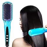 Glättbürste Haarglätter Bürste,ion bürste, glättbürste haarglätter mit MCH Schneller Aufheizung 80°C-230°C und LCD Anzeige