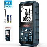 Entfernungsmesser, DTAPE DT100 100M Digitales Laser Entfernungsmesse mit LCD Hintergrundbeleuchtung M/In/Ft mit Mehreren Messmodi wie...