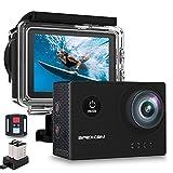 Apexcam X60Pro Action Cam 4K 60fps WiFi 20MP Unterwasserkamera 40M Wasserdicht 8xZoom EIS 170° Weitwinkel IPS-Panel(2.4G Fernbedienung,Externes...