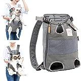 Lampop Haustier-Rucksack für Hunde Verstellbar Sichere Katzen-Vorderseite Doppelte Schultertasche Leicht Kopfbeine Schwanz aus der Hand frei für Reisen...