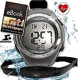 Fitness Prince Heartbeat Puls-Uhr mit Brustgurt Herzfrequenz-Messung & Fitnesstudios ANT Trainingsbereich, Kalorienverbrauch Fettverbrennung Sportuhr...