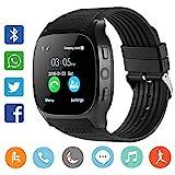 CanMixs CM02 Bluetooth Smart Watch Pulsera Deportiva Soporte de SIM y tarjeta TF Con cámara Sincronización de mensajes Compatible Con IOS Android Xiaomi...