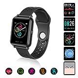 Laelr Smartwatch Sportuhr Touchscreen Fitnessuhr IP67 Wasserdicht Fitness Armbanduhr Schrittzähler Uhr mit Pulsmesser und Blutdruck, Smart Watch für Damen...