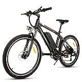 Elektrofahrrad Ebike Mountainbike Herren, 26' 250W Elektrisches Fahrrad mit Herausnehmbarer 36V 12.5Ah Lithium-Batterie und Shimano 21-Gang