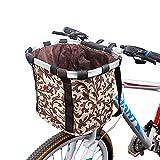 Fahrrad vorne Körb Faltbar, Fahrrad Lenker Korb Haustier Fahrradkorb Hund Vorne, Abnehmbare Fahrradtasche für kleine Haustiere, Katzen, Hunde