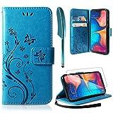 ivencase Lederhülle Samsung Galaxy A20e Flip Hülle+ HD Schutzfolie, Samsung Galaxy A20e Wallet Case Handyhülle PU Leder Tasche Case Kartensteckplätzen...