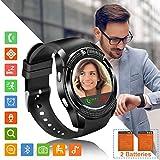 Tipmant Smartwatch SN08 Fitness Armband Smart Watch Uhr mit Schrittzähler Touchscreen Kamera SIM-Karte Slot Fitnessuhr für Samsung Huawei Xiaomi LG Android...