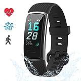 LIFEBEE Fitness Armband, Fitness Tracker mit Pulsmesser Smartwatch Wasserdicht IP68 Fitness Uhr sportuhr Aktivitätstracker, Damen Herren 0.96 Zoll...