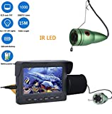 J.W. Fish Finder Unterwasserkamera, 4,3'Zoll 1000tvl Angeln Videokamera Kit mit Sensor, 6 STÜCKE IR LED HD Nachtsichtdetektor Für EIS, See,...