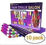 Desire Deluxe Hair Chalk Geschenke für mädchen, Haarkreide zum Haare Färben Spielzeug für Weihnachten, 10 auswaschbare Haarfärbe-Stifte, für Fasching,...