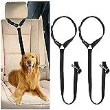 CGBOOM Universal Hunde Sicherheitsgurt fürs Auto Kopfstütze, Multifunktions Verstellbar Hundegurt Sicherheitsgeschirr Hundeanschnallgurt passend für Kleine,...