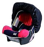 sunnybaby 11243 - Universal Sonnenschutz für Babyschale, Sonnendach, Windschutz, Sonnenverdeck | bestmöglicher UV Schutz UPF 50+ | mit Eingriff - Farbe: SCHWARZ | Qualität: MADE in GERMANY