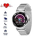 Fitnessuhr mit Blutdruckmessung FüR Damen Intelligente Uhr Wasserdicht Pulsuhren Fitness Tracker Smartwatch Bluetooth,1.04Zoll Touchscreen,Elegant,Gut...