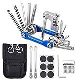 Fahrrad-Multitool Oziral 11 in 1 Werkzeuge für Fahrrad Reparatur Set mit Kette Werkzeug und Reifenpatch Hebel, Selbstklebendes Fahrradflicken usw für Reisen,...