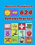 Deutsch Rumänisch 624 Vokabelkarten aus Karton mit Bildern: Wortschatz karten erweitern grundschule für a1 a2 b1 b2 c1 c2 und Kinder (Wortschatz deutsch als...