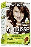 Garnier Nutrisse Creme Coloration Gold-Braun 43 / Färbung für Haare für permanente Haarfarbe (mit 3 nährenden Ölen), 3er Pack