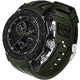 Militär Uhr Herren Sportuhr Outdoor Tactical Watch Digital 5 ATM Wasserdicht Uhren Männer Wecker Stoppuhr Armbanduhr Kalender Countdown Datum