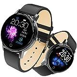Smartwatch, Fitness Armband Tracker Voller 5ATM Wasserdicht Smart Watch Intelligente Aktivitäts Uhr Sportuhr, Damen Herren Pulsmesser Schlafmonitor SMS...