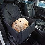 Hunde Autositz für kleine und mittelgroße Hunde + extra Sicherheitsgurt schnell verstaubar + wasserabweisend | Autositz Hund bis mittlere Hunde |...