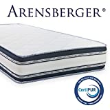 Arensberger  Relaxx 9 Zonen Wellness Matratze mit 3D-Memory Foam, 160cm x 200cm, Höhe 25cm, Raumgewicht 50 kg/m³, DREI Schichten: Kaltschaum + Visco Smart...