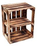 flambierte/geflammte Massive Obstkisten als Regal oder als Klassische Kiste ca 49 x 42 x 31 cm/Apfelkisten Weinkisten aus dem Alten Land (1 Stück geflammte...