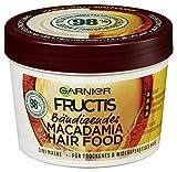 Garnier Haarmaske, Bändigendes Macadamia Hair Food, 3in1, ohne Silikone, für ein natürliches Haargefühl, Hair Food, Fructis, 390 ml
