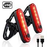 Yissma Fahrrad Rücklicht, LED Fahrradlicht,Fahrradrücklicht USB Aufladbar Fahrradbeleuchtung Wasserdicht für Radfahren,Camping usw