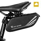Fahrrad Satteltasche, Wasserdicht Fahrrad Aufbewahrungstasche mit reflektierenden Streifen, Großer Kapazität Mountainbike Rennrad Hecktasche für Mini...