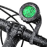 KOROSTRO Fahrradcomputer Kabellos Wasserdicht, Fahrradtachometer Drahtlos mit 3 Farben LCD Hintergrundbeleuchtung, Fahrradtacho mit Bewegungssensor Radcomputer...
