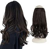 FESHFEN Secrets Hair Extensions, 46 cm Lange Gewellt Haarverlängerungen Invisible Secret Extensions Synthetik Haare Unsichtbarem Extension 1 Tresse Haarteile