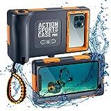 WebfoxTec [Tauch-Gehäuse] wasserdichte und Schwimmfähige Handy-Hülle bis 15m Tiefe, Extrem Robuste Schutzhülle für Outdoor Action und Sport, Universal...