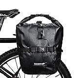 WILDKEN Fahrrad Gepäckträgertasche Hinten Vorne wasserdichte Fahrradtasche Hinterradtasche Gepäckträger Tasche (Schwarz)