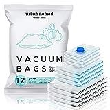 Vakuumbeutel Kleidung 12er Set 3 Größen - Vakuum Beutel für Staubsauger Wiederverwendbar 100% Dicht & Robust   Reise Kompressionsbeutel Kleiderbeutel...