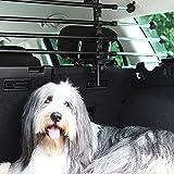 JOM Car Parts & Car Hifi GmbH 127503 Gepäckraumgitter Kofferraum Universal Teleskopstangen Trenngitter für Hunde Auto, SUV Schutzgitter Hundegitter für den...