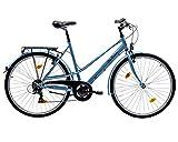 tretwerk DIREKT gute Räder City Explorer 28 Zoll Citybike, Damen-Fahrrad mit Beleuchtung über Nabendynamo, M