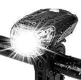 Omasi Fahrradbeleuchtung LED StVZO Zugelassen Fahrradlicht Fahrradlampe USB Wiederaufladbar Fahrrad Frontlicht Wasserdicht Fahrradleuchte 1200mAh Akku MTB...