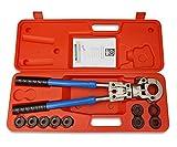 NTA Profi Presszange V-Kontur 12-28mm + TH-Kontur 16-32mm Set Presswerkzeug Pressbacke