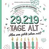 Gästebuch zum 80. Geburtstag: Deko zur Feier vom 80.Geburtstag für Mann oder Frau - 80 Jahre in Tagen - Geschenkidee & Dekoration - Buch für Glückwünsche...